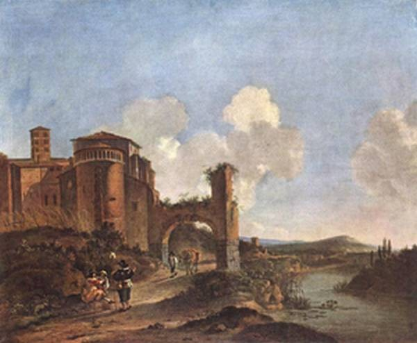 Italian landscape with ss giovanni e paolo in rome xx museum of fine arts budapest